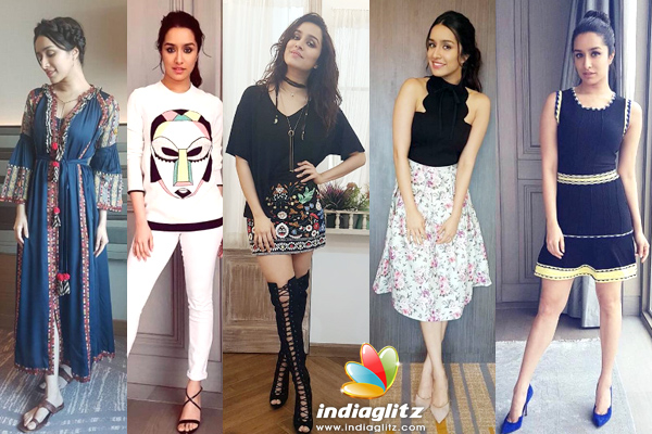 6662e3513d3 Shraddha Kapoor sported a number of looks during the promotions of her  movie 'Half Girlfriend'. The delicate, light-eyed beauty looked charming in  all of ...