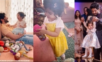 Dulquer Salmaan paints for his daughter, photo goes viral