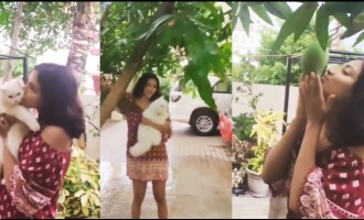 """First Rain In The Lockdown,"" Amala Paul kissing in the rain video goes viral"
