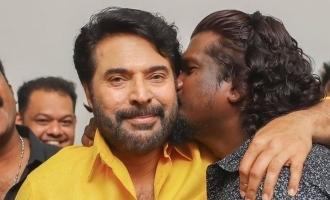Ajai Vasudev kisses Mammootty at Shylock success meet, VIRAL