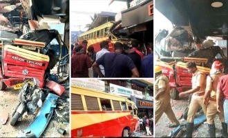 Bus carrying 35 passengers rammed in to a roadside shop