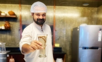 Actor Kunchacko Boban shows off his cooking skills
