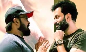 Superstar Mohanlal congratulates Prithviraj for Kuruthi