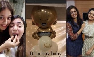 Nazriya and Ananya's special wishes to Meghana Raj and her baby boy