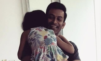 ADORABLE: Prithiviraj gets a warm welcome at home