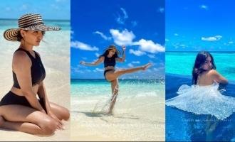 Viral pics: Actress Saniya Iyappan enjoys Maldives in bikini