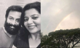 """Waiting for Prithvi to return,"" Supriya's hopeful post of a double rainbow"