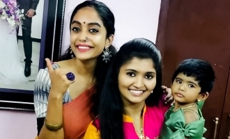 Bigg Boss 3 Abhirami's surprise visit to Sandy's house!