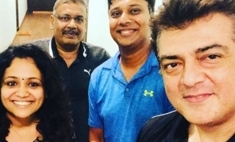 Popular RJ's selfie with Thala Ajith reveals new look!