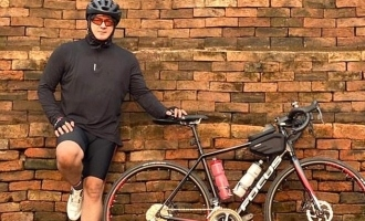 Thala Ajith's mass cycling photos create record breaking trends on the internet
