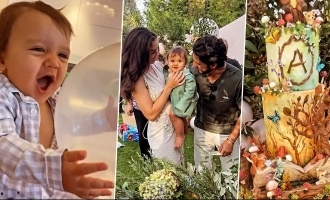 Amy Jackson's son Andreas's grand first birthday celebrations pics and video