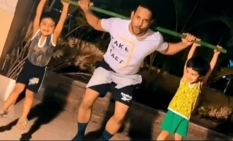Adorable video of Bharath's twin sons goofing him up goes viral