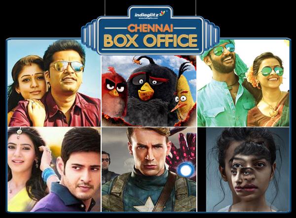 Theri, 24, The Jungle Book, xmen, INA, Jungle Book, Marudhu, Angry Birds and Brahmotsavam Box Office