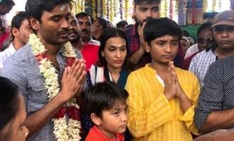 சிவராத்திரி தினத்தில் பக்தி மழையில் நனைந்த தனுஷ்!