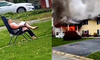 Do You Believe: 47year-old Woman sets her house on fire and stuck around to watch it burn.