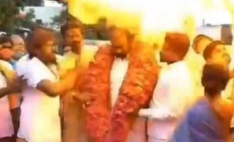 12 injured after Hydrogen balloon explodes in PM Modi birthday celebration in Chennai!