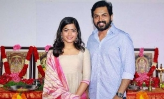 Karthi heroine's sweet message on spending time with family!