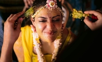 Kajal Aggarwal's cute and happy moments from pre-wedding party viral!