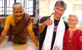 Milind Soman's 81 year old mother push-up video turns viral!
