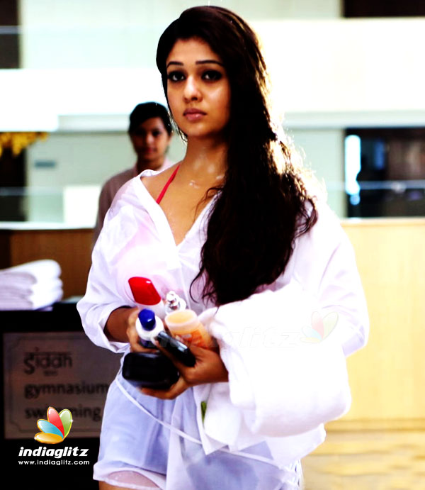 This One Is Another Smokin Hot Romance Scene By Nayanthara Who Takes Down A Guy From The Opposite Side Through Her Sexy Look And Ends Up Having Him At