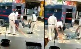Shocking video of Police brutal attack on man turns viral!