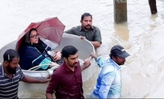Famous hero's mother caught in floods