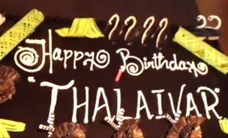 Superstar's birthday celebration with Thalaivar 168 team!