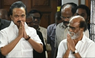 Superstar Rajinikanth meets M.K. Stalin and donates for COVID 19 relief