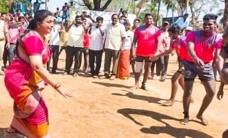 கபடி வீரர்களுடன் கபடி விளையாடிய நடிகை ரோஜா: வைரல் வீடியோ