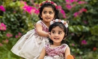 இரட்டை குழந்தைகளுக்கு அன்னப்பிரஷன் செய்த சின்னத்திரை ஜோடி!