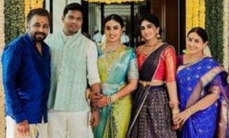 Actress Saranya Ponvannan's daughter gets engaged