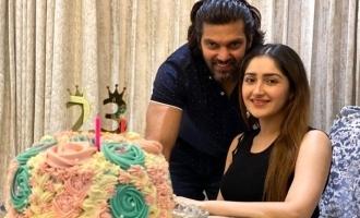 Sayyeshaa's cute birthday photos with Arya turn viral!