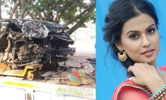 Popular actress and Tamil producer seriously injured in car accident friend misleads police