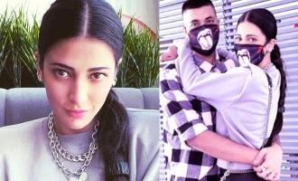Shruti Haasan's romantic meet with boyfriend in Chennai - photos viral!