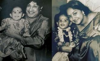 Vanitha Vijayakumar's first birthday baby photo with Sivaji Ganesan rocks the internet