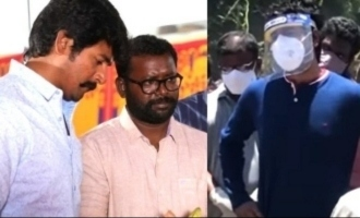 Sivakarthikeyan pays last respects to close buddy Arunraja Kamaraj's wife Sindhuja