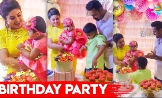 Sneha and Prasanna's cute daughter Aadhyantha's first birthday celebrations video
