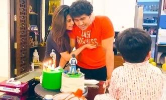 Soundarya Rajnikanth shares cute photos from husband's birthday celebration!