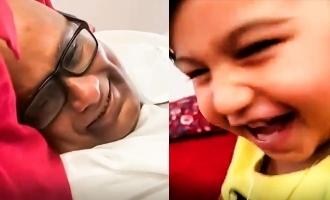பேரனுக்காக குழந்தையாகவே மாறிய சுரேஷ் தாத்தா: வைரல் வீடியோ