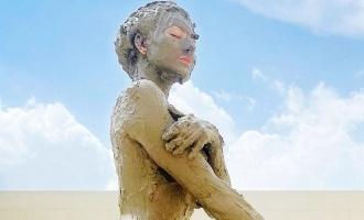 Popular actress shares hot mud bath photo causing mercury levels to soar