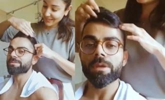 Anushka Sharma turns Kohli's quarantine hairstylist!