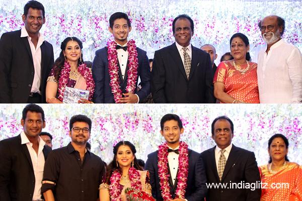 Rajinikanth And Vijay Grace Vishals Household Wedding Tamil Movie
