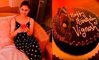 Nayanthara's lovely birthday surprise for Vignesh Shivan!