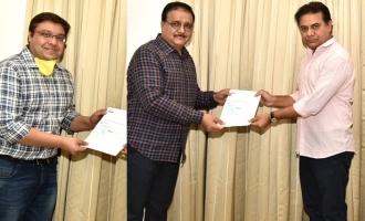 Aditya Music donates Rs 31 lakh to Telangana