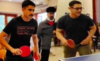 Pic Talk: Naga Chaitanya plays TT with Aamir Khan