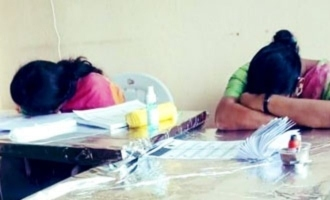 Viral Pic: Poll staff take a nap as GHMC election sees low turnout