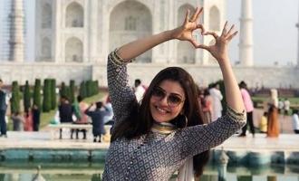 Kajal Aggarwal is spellbound by the Taj