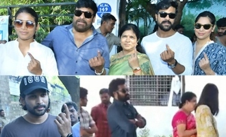 Mega family, NTR & others make a statement on polling day