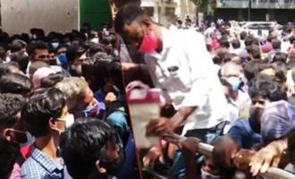 Viral: Crowds gather outside Chennai stadium for Remdesivir