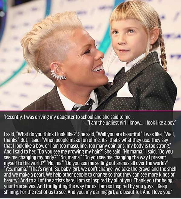 Pink's Heartwarming Message to her Daughter! - News - IndiaGlitz.com
